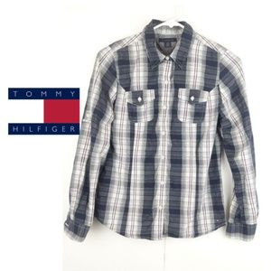 Tommy Hilfiger Womens Collared Longsleeve Buttons